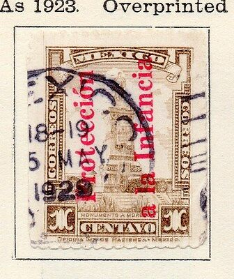 Mexico 1923 Early Issue Fine Used 1c. Optd 170562
