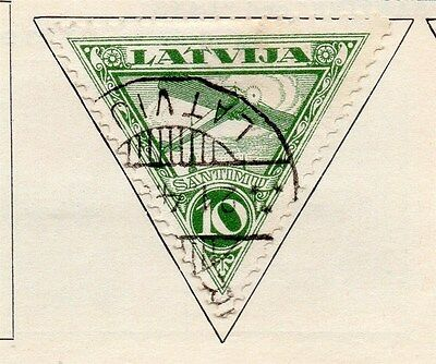 Latvia 1928 Early Air Stamp Issue Fine Used 10s. 170657
