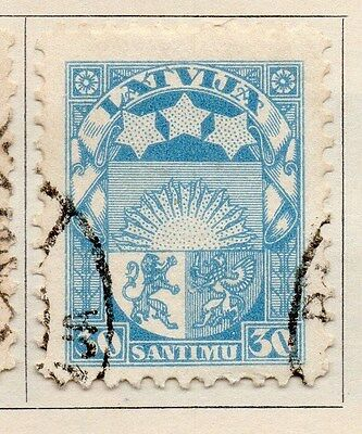 Latvia 1928 Early Issue Fine Used 30s. 170669
