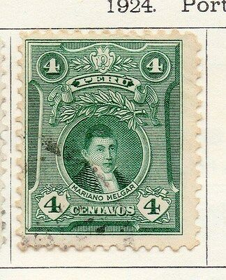 Peru 1924 Early Issue Fine Used 4c. 170616