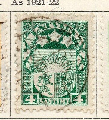 Latvia 1923-24 Early Issue Fine Used 4s. 170635