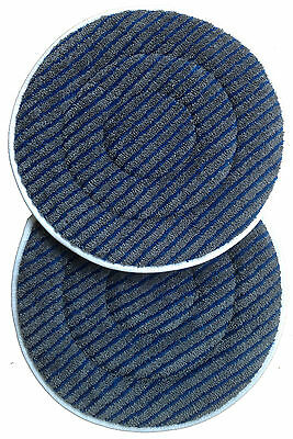 2 Micro Fibre Carpet Cleaning Spin Pads With Scrubbing Strips - Save On Postage!