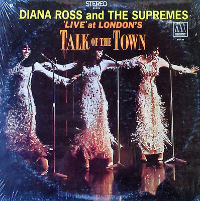 Diana Ross & Supremes - Live At London's Talk Of The Town - Motown Lp - Shrink