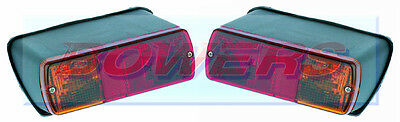 2x BRITAX CASE DAVID BROWN FIAT FORD NEW HOLLAND TRACTOR REAR TAIL LAMPS LIGHTS