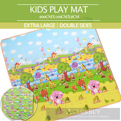 Extra Large 20mm Thick Kids Baby Play Mat Floor Rug Animal Number 1.8mx2m A