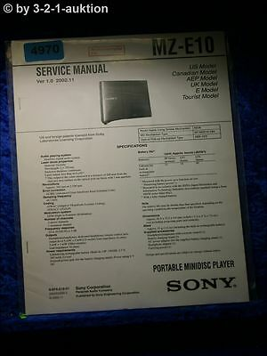 Sony Service Manual MZ E10 Mini Disc Player (#4970)
