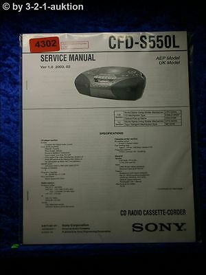 Sony Service Manual CFD S550L Cassette Corder (#4302)