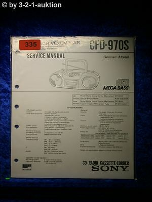 Sony Service Manual CFD 970S Cassette Corder (#0335)