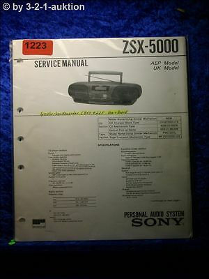Sony Service Manual ZSX 5000 Personal Audio System (#1223)