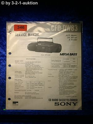 Sony Service Manual CFD DW83 Cassette Corder  (#0346)