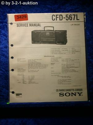 Sony Service Manual CFD 567L Cassette Recorder (#3429)