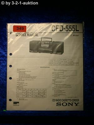 Sony Service Manual CFD 555L Cassette Corder (#0349)