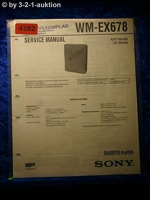 Sony Service Manual WM EX678 Cassette Player  (#4382)