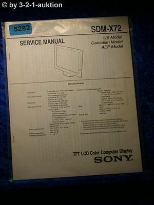 Sony Service Manual SDM X72 Computer Display (#5282)