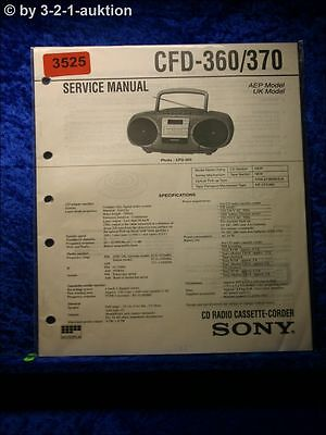Sony Service Manual CFD 360 / 370 Cassette Recorder (#3525)