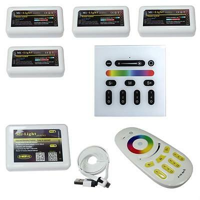 MiLight RGB+W RGBW LED Set - 4-Zone Controller / WLan / RF Fernbedienung / Wand