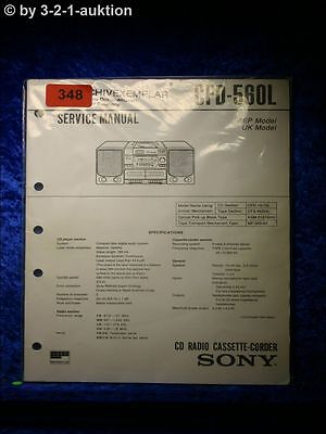 Sony Service Manual CFD 560L Cassette Corder (#0348)