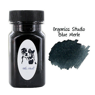 Organics Studio Fountain Pen Ink, 55ml, Ernest's Vintage Writing Blue/Black