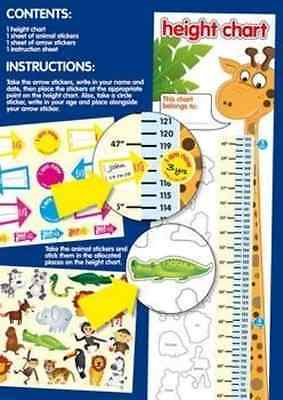 NEW Childrens Height Chart with over 40 Stickers