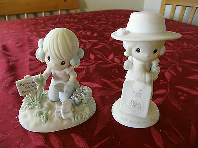 2 Precious Moments Figurines C0019   E-0005  Two For One Price!