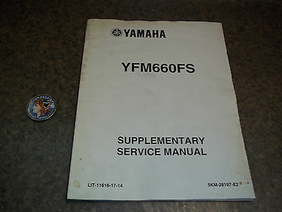 Yamaha Supplementary Service Manual For 2004 600 Grizzly