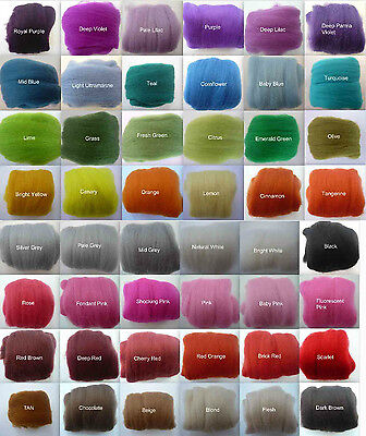 Heidifeathers® Merino Felting Wool - Single Colours 25g -150g Felting Dreadlocks