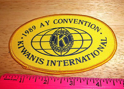 Kiwanis international 1989 AY convention patch, great collectors item