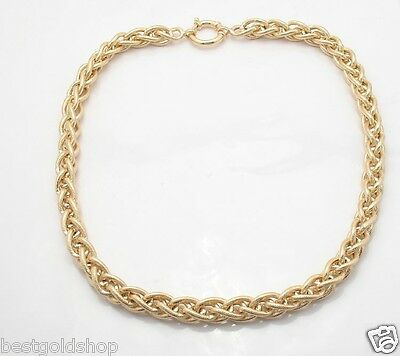 Technibond 1mm Cable Rolo Chain Necklace 14K Yellow Gold Clad Sterling Silver