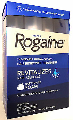 Mens Rogaine Hair Regrowth Foam 3 Month Supply Unscented