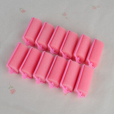 12PCS Vintage Styling Rollers Curlers Magic Sponge Foam Cushion Hair Twist Tool