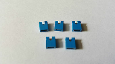 IDE HDD PC Jumpers - Blue - 5 Pack - Hard Drive Pin Caps - Free UK P&P
