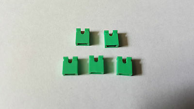 IDE HDD PC Jumpers - Green - 5 Pack - Hard Drive Pin Caps - Free UK P&P