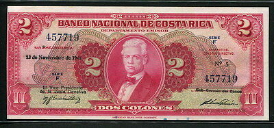Costa Rica 1946, 2 Colones, 457719, P203a, UNC (eft margin is low)