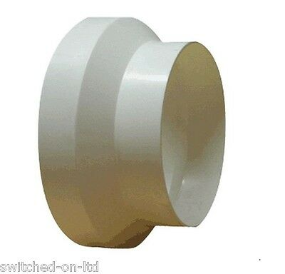 Ventilation Pipe Reducer/Adapter White 150mm to 100mm (6 to 4 inch)