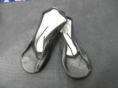 Black leather Bloch S0255 full sole ballet shoes - child sizes