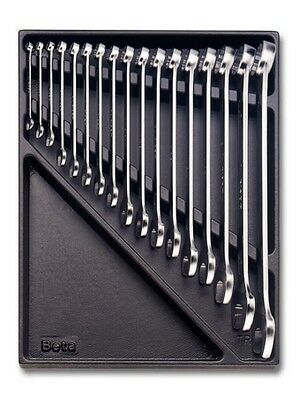Beta Tools 2424T10 Offset Combination Spanner Set 17Pc from 6mm to 30mm in Tray