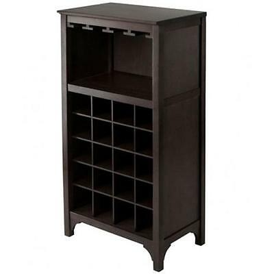 Winsome Trading 92729 Ancona Modular Wine Cabinet with Glass Rack & 20-Bottle