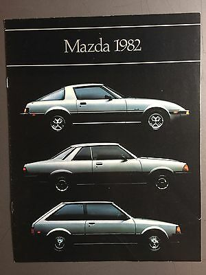 1982 Mazda Full Line Showroom Advertising Sales Brochure RARE!! Awesome L@@K