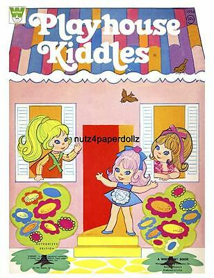 Vintge 1971 Liddle Kiddles Play Paper Doll ~Whitman~Rare Uncut Laser Reprodction