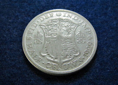 1929 Great Britain Silver Half Crown - Circulated - Free Shipping