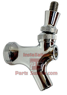 Polished Chrome Faucet Stainless Steel Lever Standard Shank Beer Tower Keg Tap