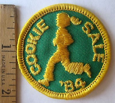 Vintage Girl Scout 1984 COOKIE SALE PATCH Sales Incentive Running Marathon NEW