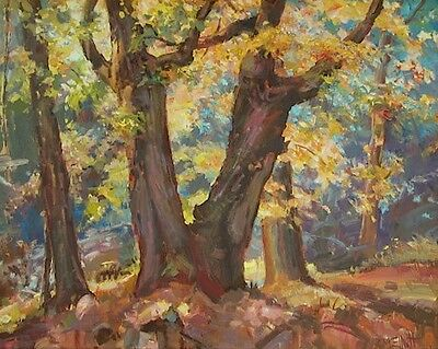 MCLEAN GAME REFUGE 24x30 original oil painting signed by artist forest trees