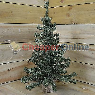 60cm (2ft) Mini Christmas Tree in a Jute Bag - Perfect for side tables