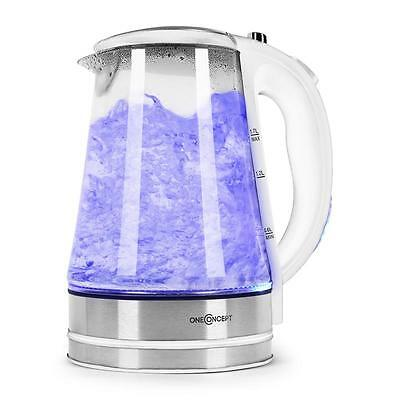 Cordless Electric Kettle 1.7L Water Boiler Fast Boiling Machine Blue Led Light
