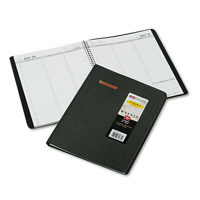 AT-A-GLANCE Weekly Appointment Book, Academic, 8 1/4 X 10 7/8, Black, 2015-2016