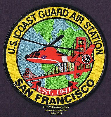 LMH PATCH Badge  USCG Helicopter Rescue COAST GUARD AIR STATION San Francisco 5""