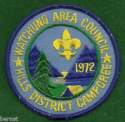 Boy Scout Patch - 1972 Hills District Camporee  - Watchung Area Council