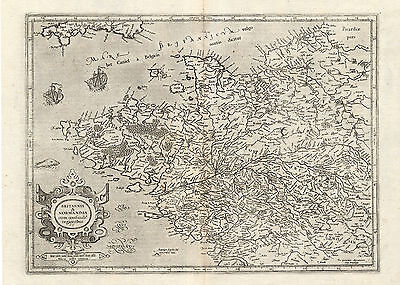 Antique Map-FRANCE-BRITTANY-NORMANDY-Mercator-1636