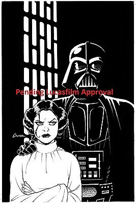 AMANDA CONNER Art EXCLUSIVE Variant B/&W STAR WARS #1 Return to Marvel Comics